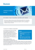 DocuWare Connect-to-Outlook